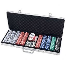 Mala de 500 fichas de poker Dice de 11,5 gr