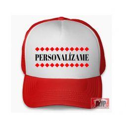 Gorra tracker personalizada roja
