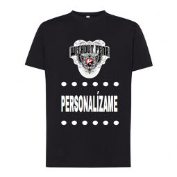 Camiseta de manga corta negra personalizable