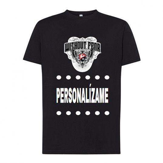 Camiseta preto customizável da manga curta