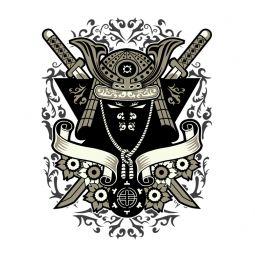 """Escudo camiseta """"Samurai"""" de chico modelo"""