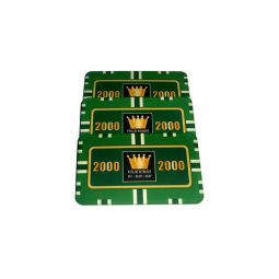 Placa de poker color verde valor 2000