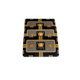 Placa de poker color negra valor 5000