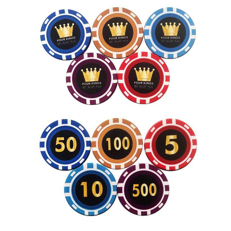 Fichas de poker de cerámica