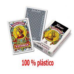Baraja española en 100% plástico de Fournier 50 cartas