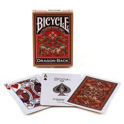 Baralho de cartas Gold Dargon Back Bicycle coleção