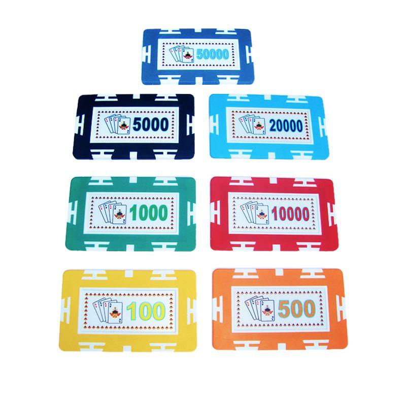 Placas de poker ABS con valor