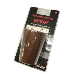Jogo de 5 dados de poker com copo de Fournier
