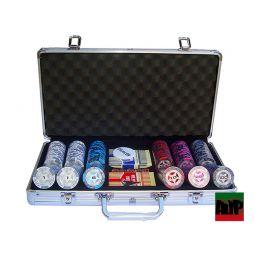 malas fichas de poker Clay Poker Club personalizáveis