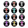 Adesivos de fichas de pôquer personalizados