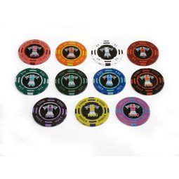 fichas de pôquer personalizadas com adesivos
