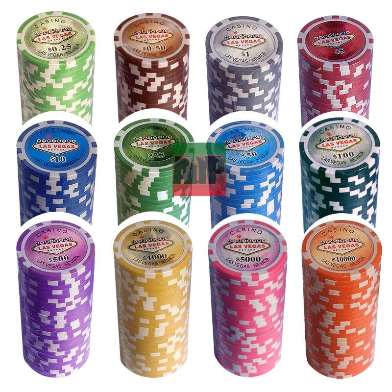 fichas de poker Las Vegas