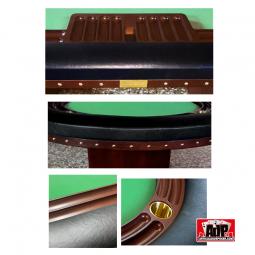 Detalhes da mesa de pôquer de luxo personalizável