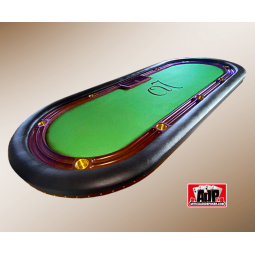 mesa de poker de lujo madera natural