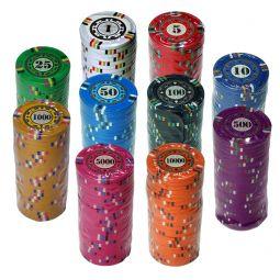 Fichas de poker de 4 cores Royal Club