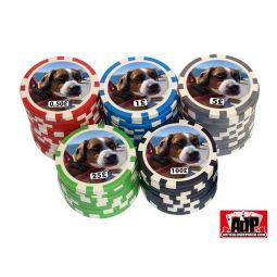 Fichas de poker personalizáveis com foto