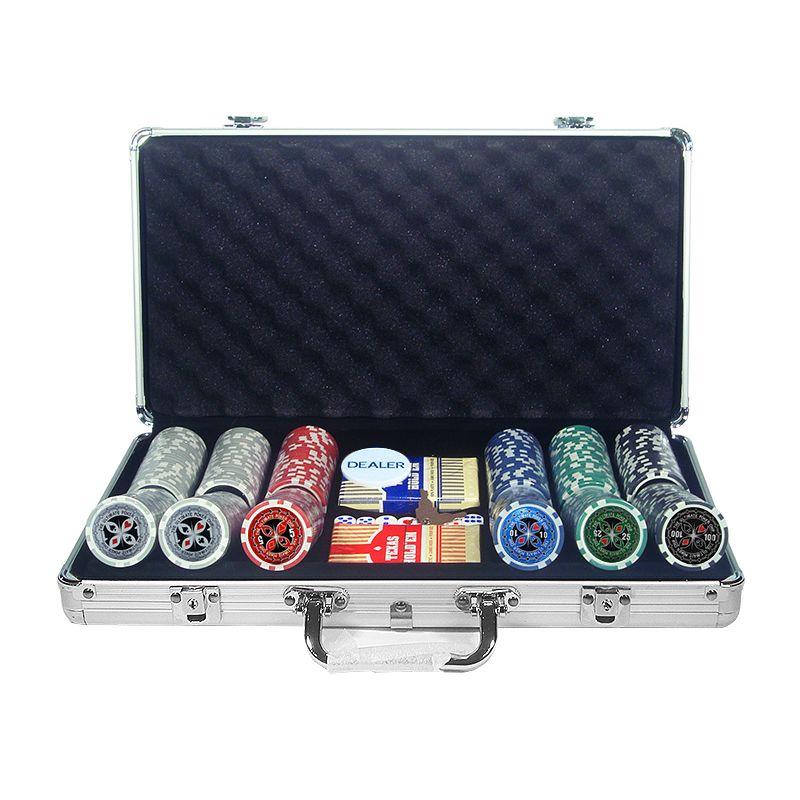 mala de poker con 500 fichas láser Ultimate.