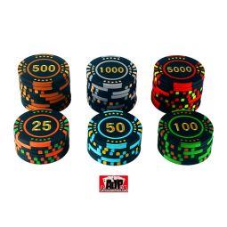 Personalização de fichas de pôquer de cerâmica