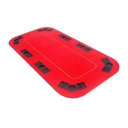 Tabuleiro de poker retangular vermelho