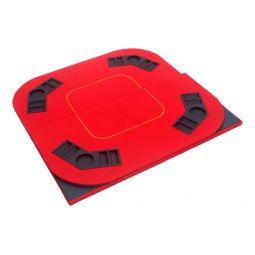 Tabuleiro de pôquer dobrável retangular vermelho