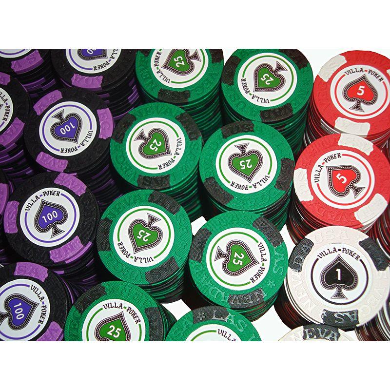 Personalização fichas de poker clay