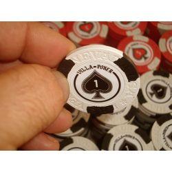 Personalização de fichas de poker clay
