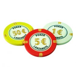 fichas de poker de cerámica personalizadas