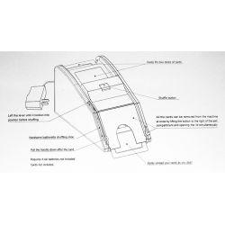 Baralhador elétrico automático de cartas, instruções