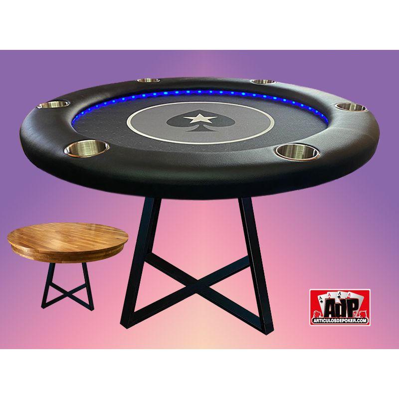 Mesa de poker com mesa de jantar