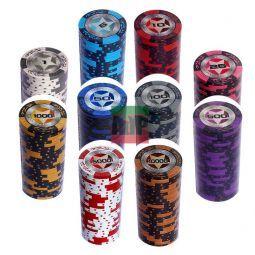 Maletin personalizable de 1000 fichas MonteCarlo Poker Room