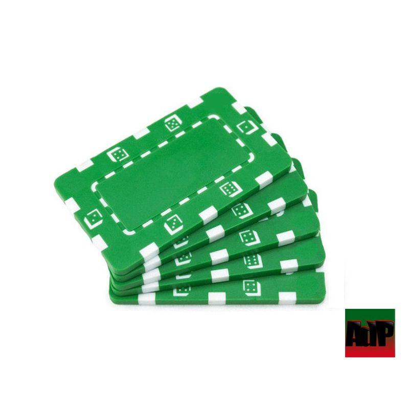 Placas de Poker Dice verde