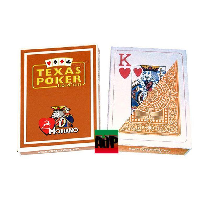 Baralhos Texas Poker Modiano Marróm