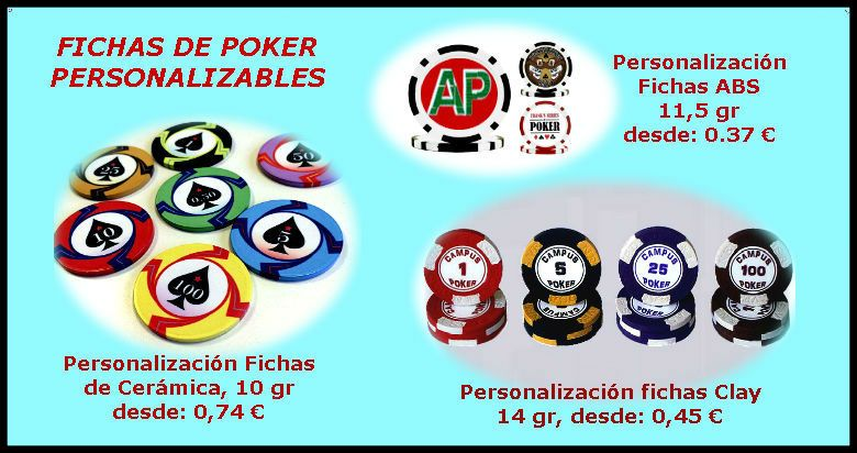 Fichas do poker personalizaveis