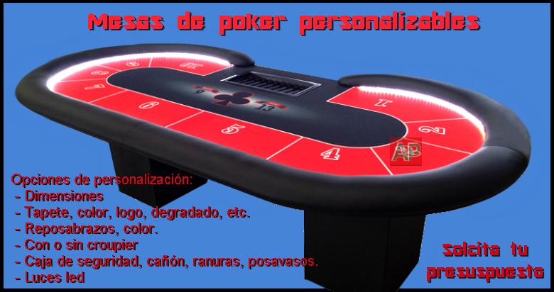 Mesas de poker personalizables