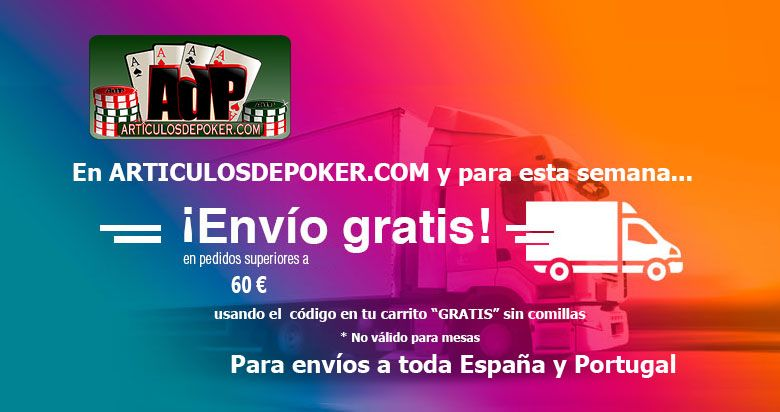 Envío gratuito en articulos de poker