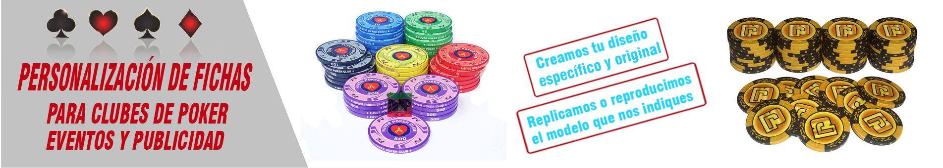 Fichas de poker personalización